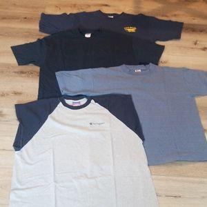 🍒 Huge Lot of 4 Mens T shirts Navy XL (m31)